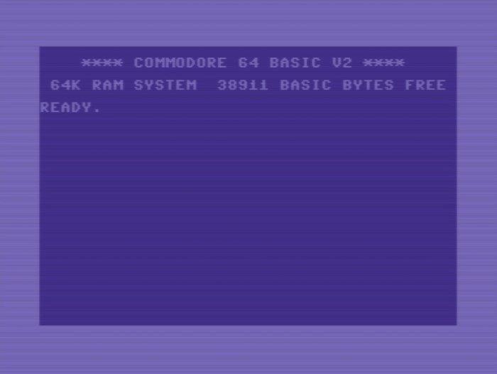 Commodore 64 screen.