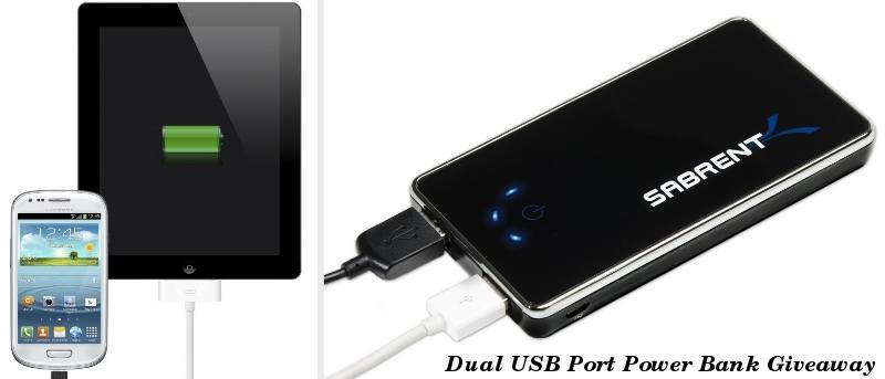 Charge Two Devices at Once With Sabrent's Dual USB Power Bank
