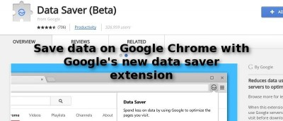 Save Data on Google Chrome with Google's New Data Saver Extension