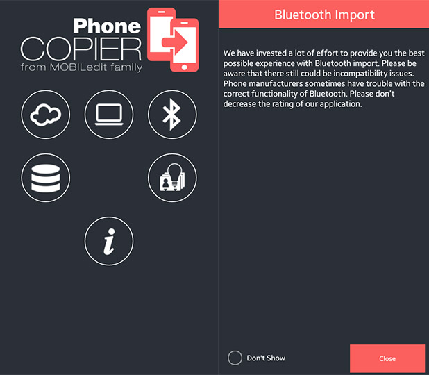 PhoneCopier Android app