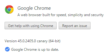 About Google Chrome Canary.
