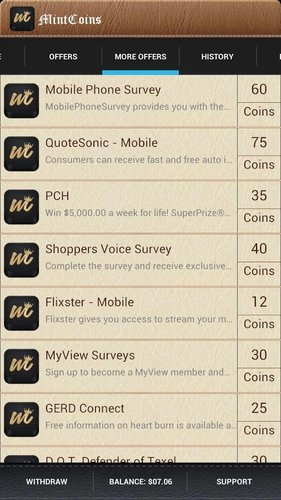MintCoins Android app