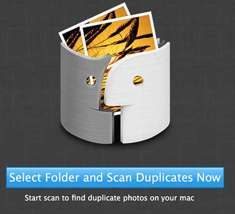 Click on the 'Select Folder and Scan Duplicates Now' button.