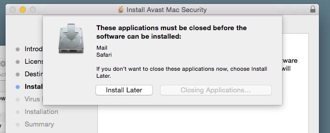 Install Avast Mac Security app.