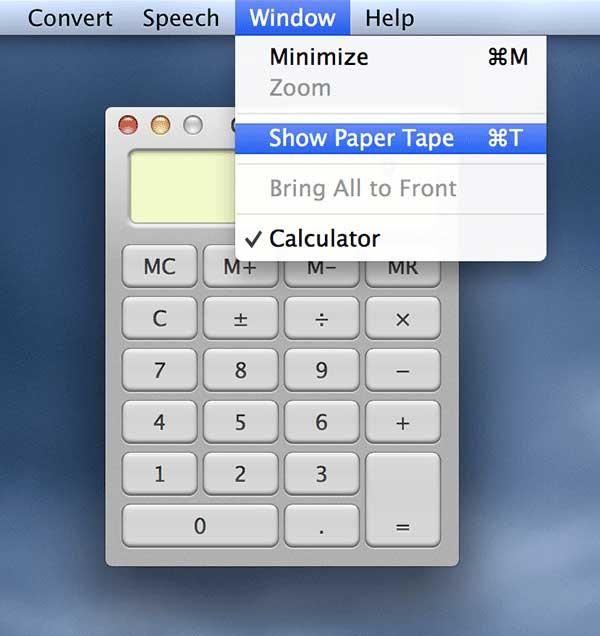 Click 'Window' menu followed by 'Show Paper Tape.'