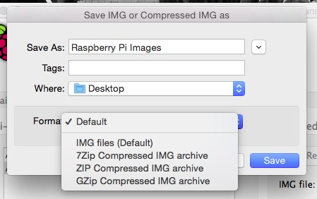 Choose what kind of disk image you want.