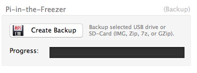 Write the selected disk to a file on your Mac for burning later.