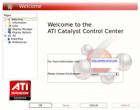 ATI Catalyst Control Center.