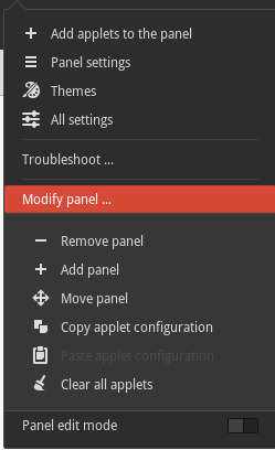 cinnamon-redesigned settings