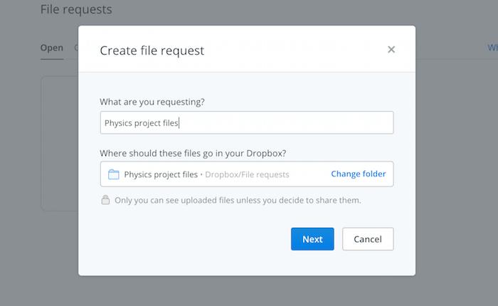 dropbox-request-folder-name