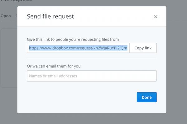 dropbox-request-share
