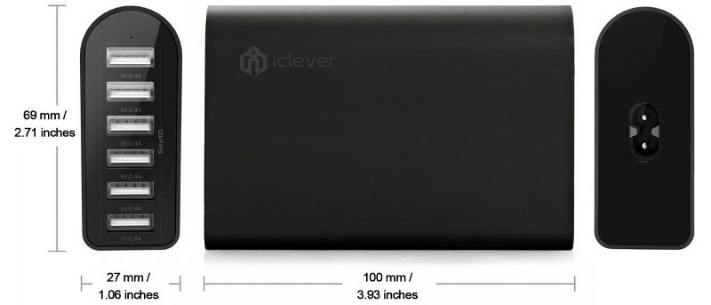 iClever 6-Port USB Travel Wall Charger Review and Giveaway