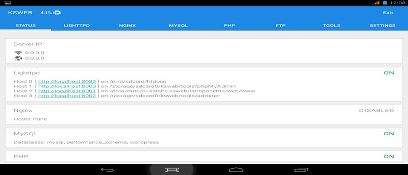 How to Setup a Local Web Server on Android