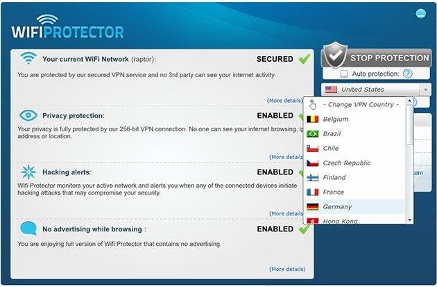 Wifi Protector VPN: Lifetime Subscription