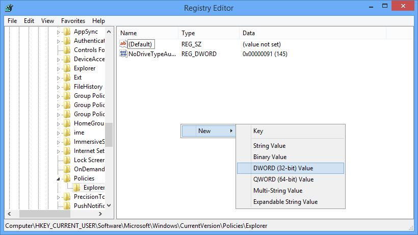 windows-autoplay-new-dword-value