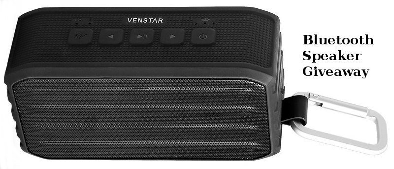 Venstar Waterproof Mini Handheld Bluetooth Speaker Review & Giveaway