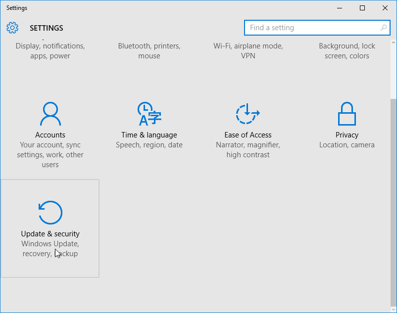 downgrade-from-win10-update-and-security