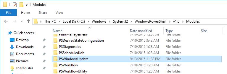 powershell-install-pswindowsupdate
