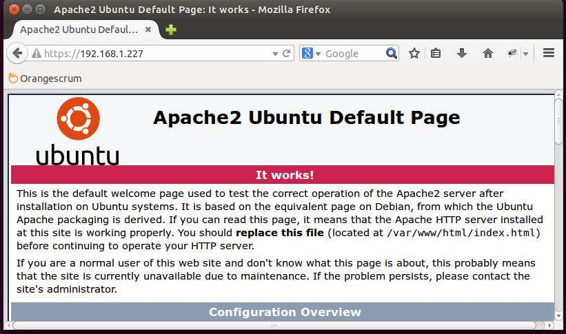 Setting Up Apache Server With Ssl Support On Ubuntu