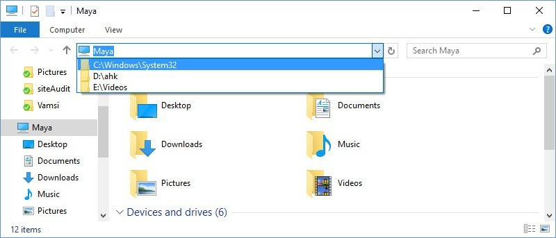 How to Delete File Explorer Address Bar History in Windows
