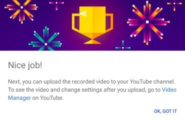 google-play-games-video-sucessfully-uploaded