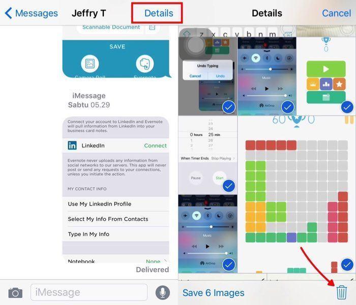 Delete images iOS Message -mte- 02 - Multiple Images