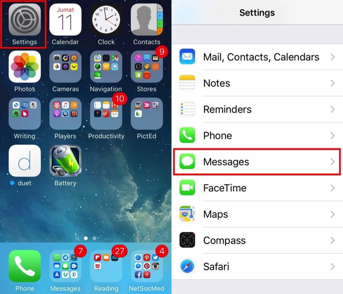 Delete images iOS Message -mte- 04ab - Settings Messages