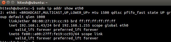 IP_addressh_show_eth0