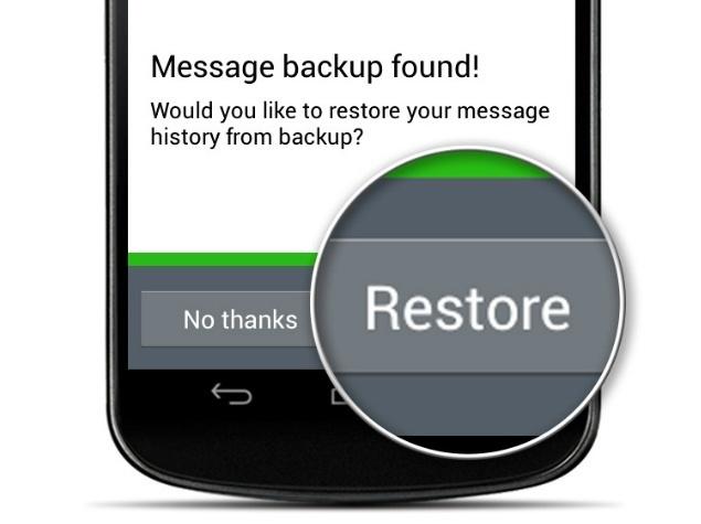 Backup WhatsApp Restore Conversations