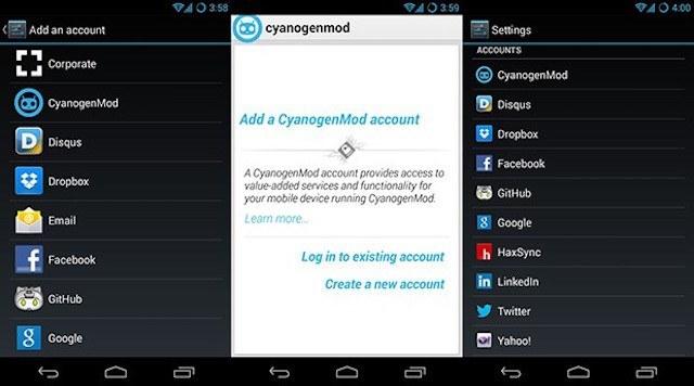 CyanogenMod Account C-App