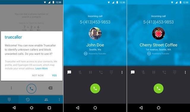 CyanogenMod Trucaller C-App