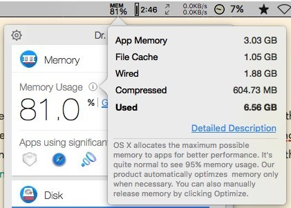 Dr. Cleaner -mte- Memory Usage