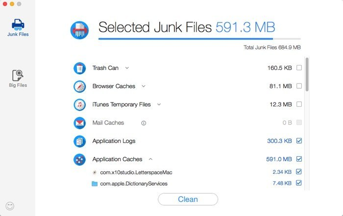 Dr. Cleaner -mte- Selected Junk Files