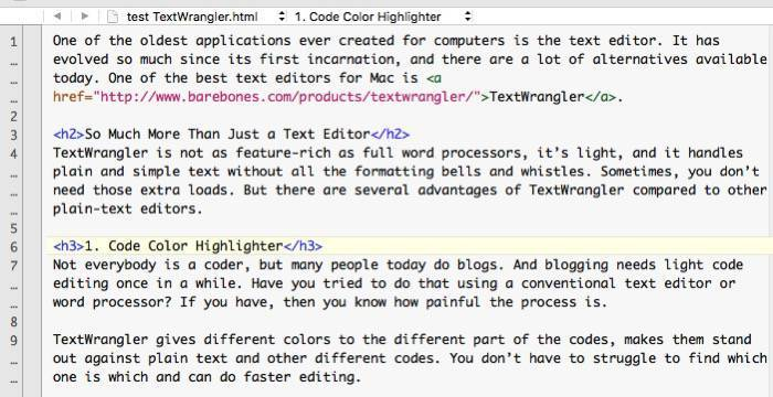 TextWrangler -mte- 01b - Color coded