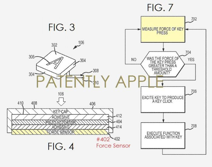 apple patent possibilities - 3dkeyboard