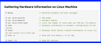 How to Check Hardware Information On Linux Using Command Line