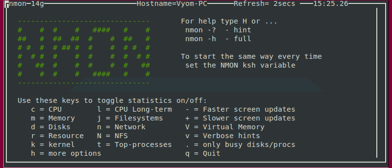 Monitor Linux System Performance Using Nmon