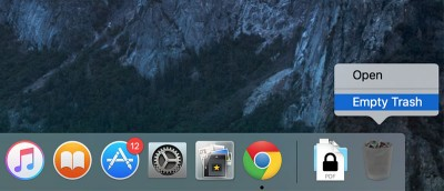 How to Empty the Trash Securely in OS X El Capitan