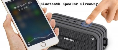 Plusinno Waterproof Bluetooth Speaker with Voice Control