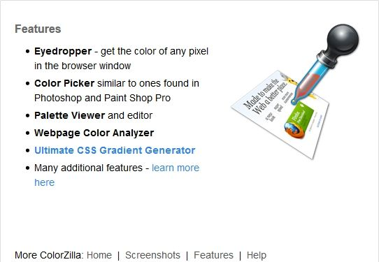 WebInter-ColorZilla-InstallPage