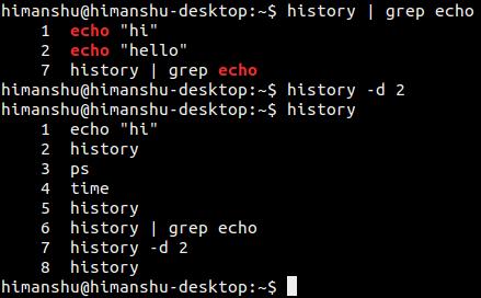 commandline-history-delete-specific-commands