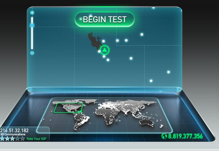 Saving on internet - speed test tool