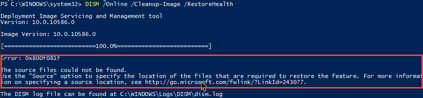win10-fix-corrupted-system-files-dism-failed-to-fix