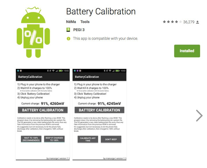 Battery Calibration android root