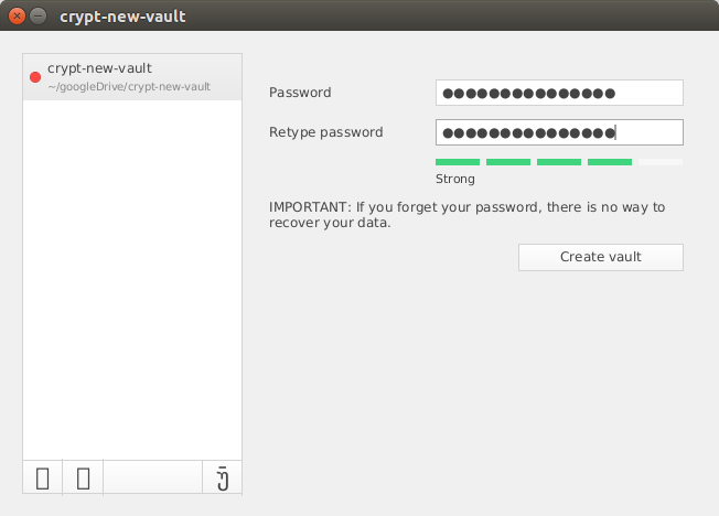 cryptomator-new-vault-create