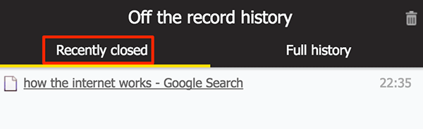 incognitohistory-recently