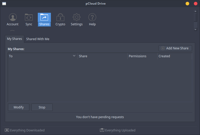 pcloud-drive-shares