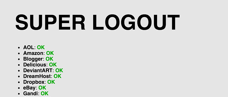 How to Log Out of a Number of Websites at Once [Quick Tips]