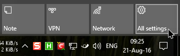 win10 active hours select settings