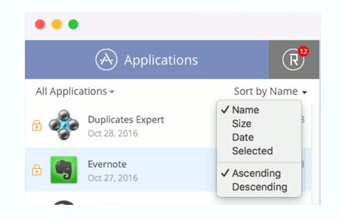 app-cleaner-sorting